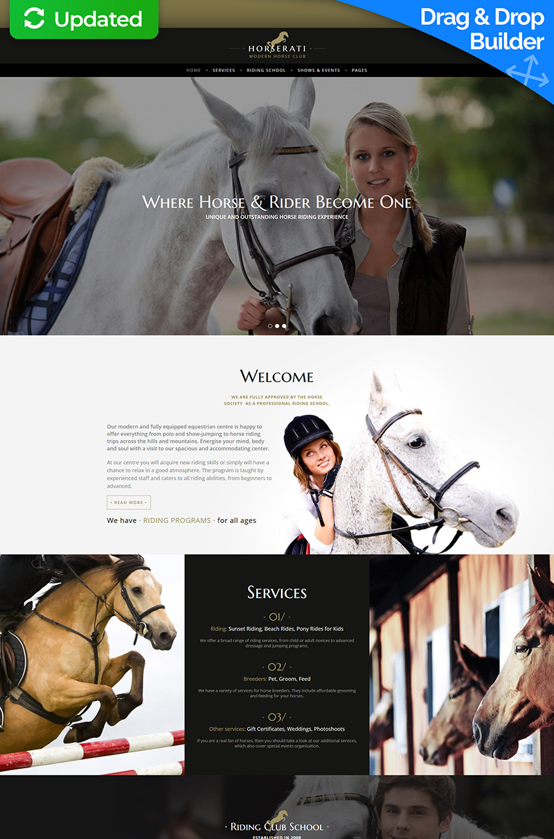 Horserati - Horse Club Moto CMS 3 Template