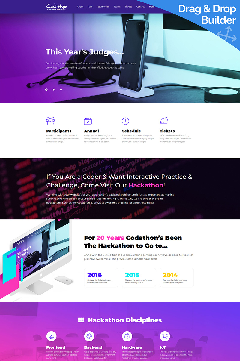 Hackathon for Coders - Moto CMS 3 Template