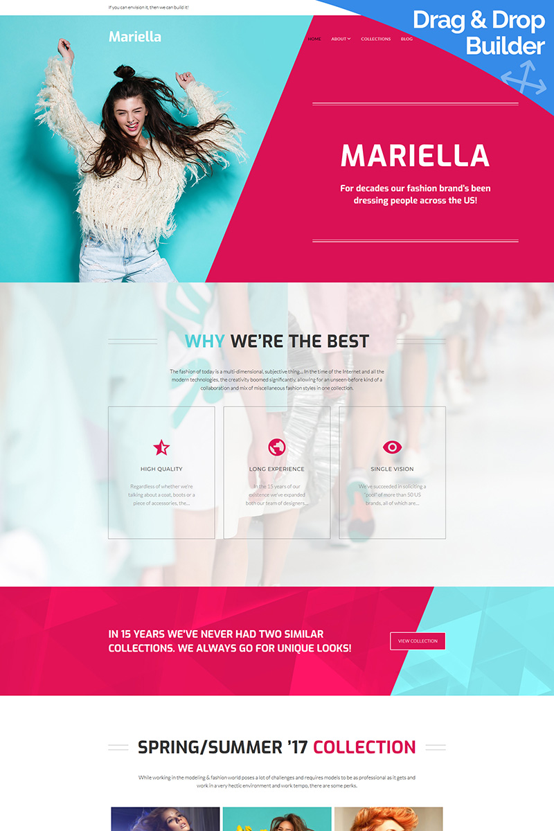 Mariella - Fashion Moto CMS 3 Template