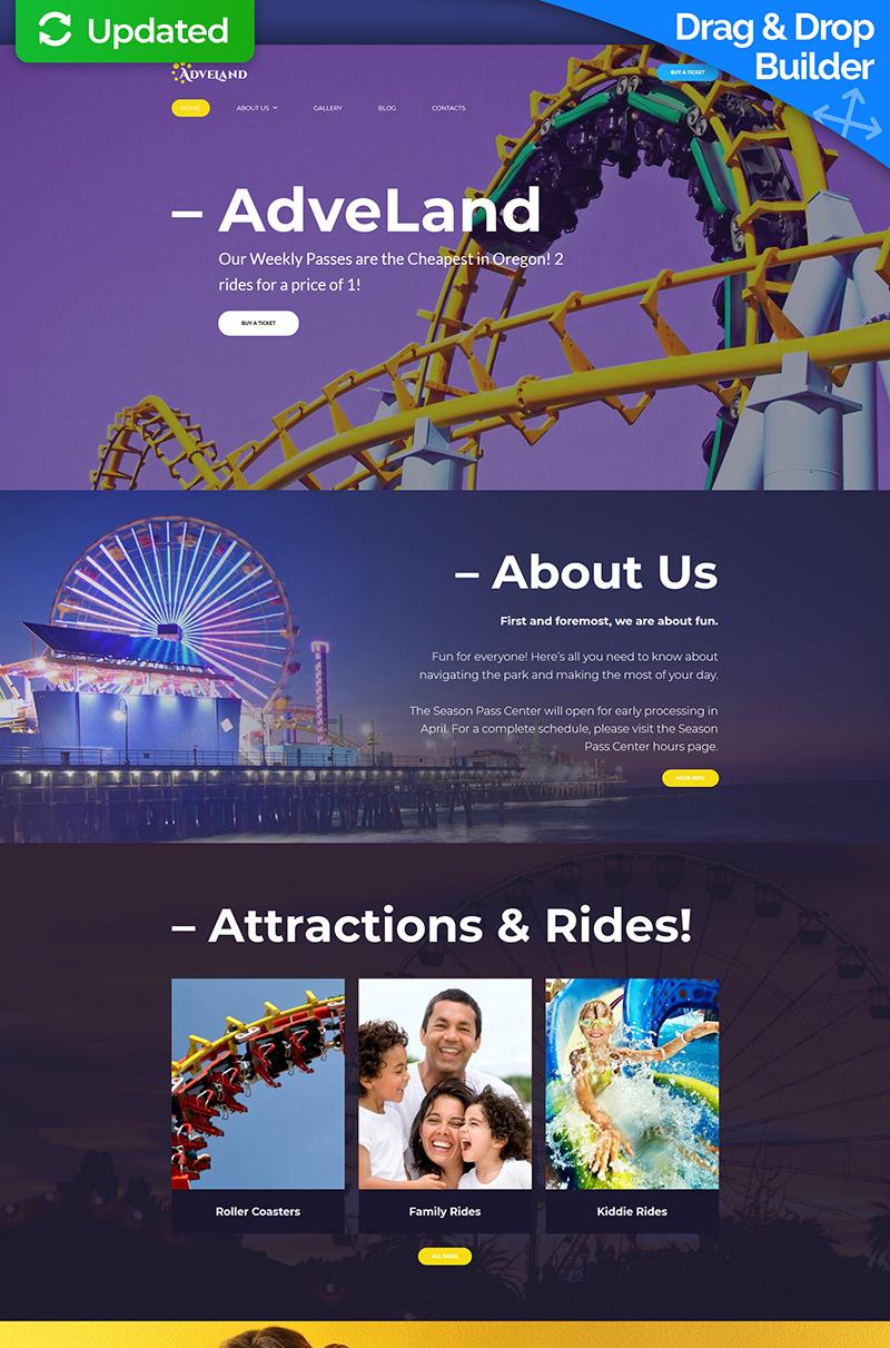 Adveland - Amusement Park Moto CMS 3 Template