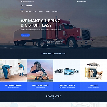 Template Transport Moto CMS 3 #66544