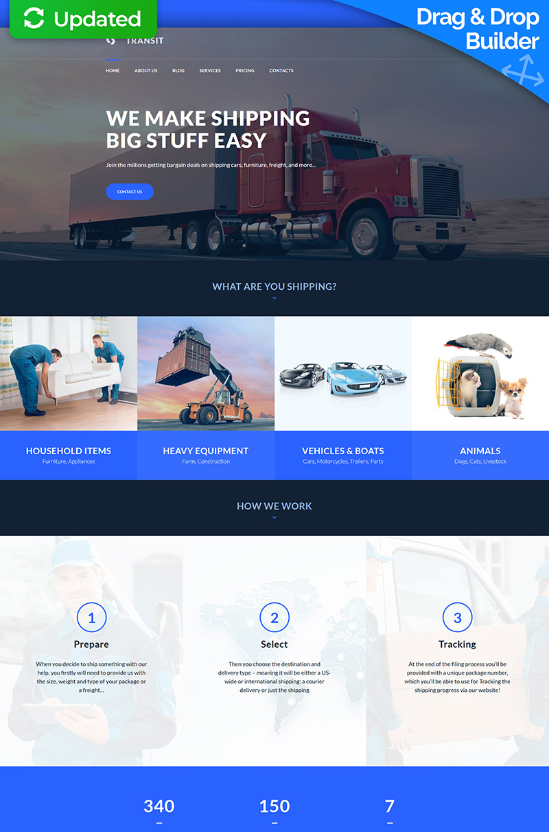 Logistics and Transportation Service Moto CMS 3 Template