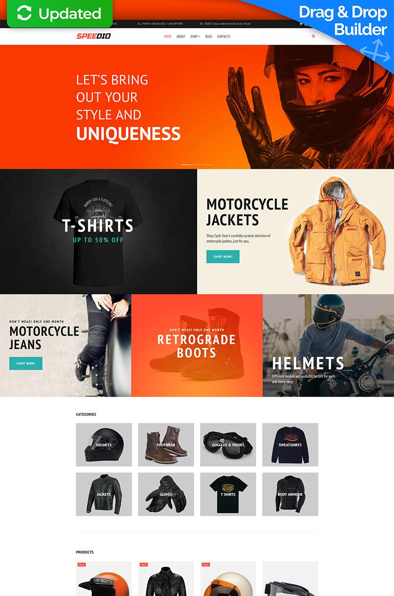 Speedio - Cars & Motorcycles Equipment Store MotoCMS Ecommerce Template