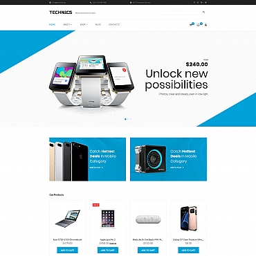 Template Electronice MotoCMS Ecommerce #66564