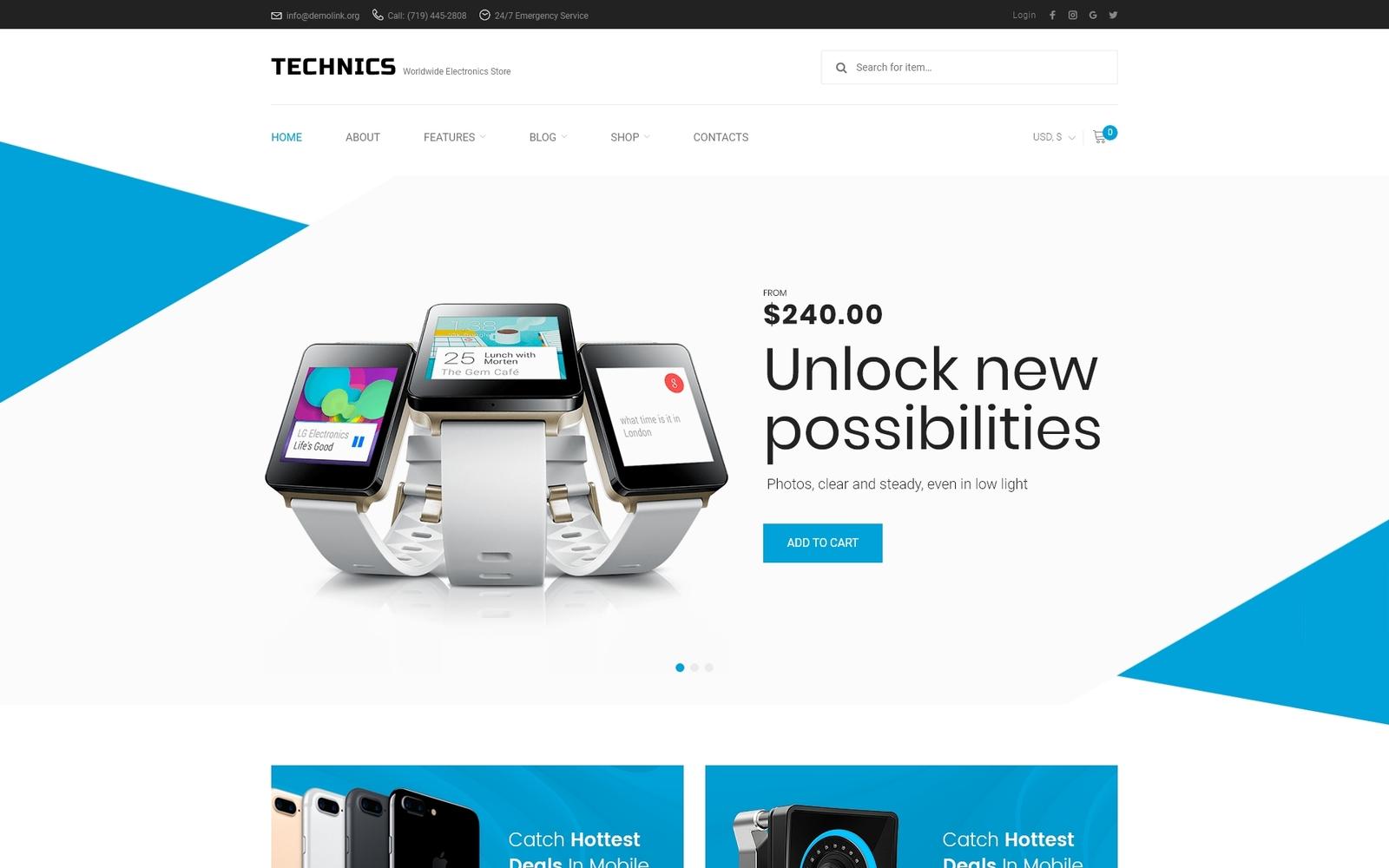 Technics - Electronics Store WooCommerce Theme
