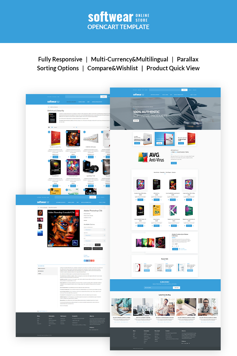 SoftWear - Softwate Store Responsive OpenCart Template