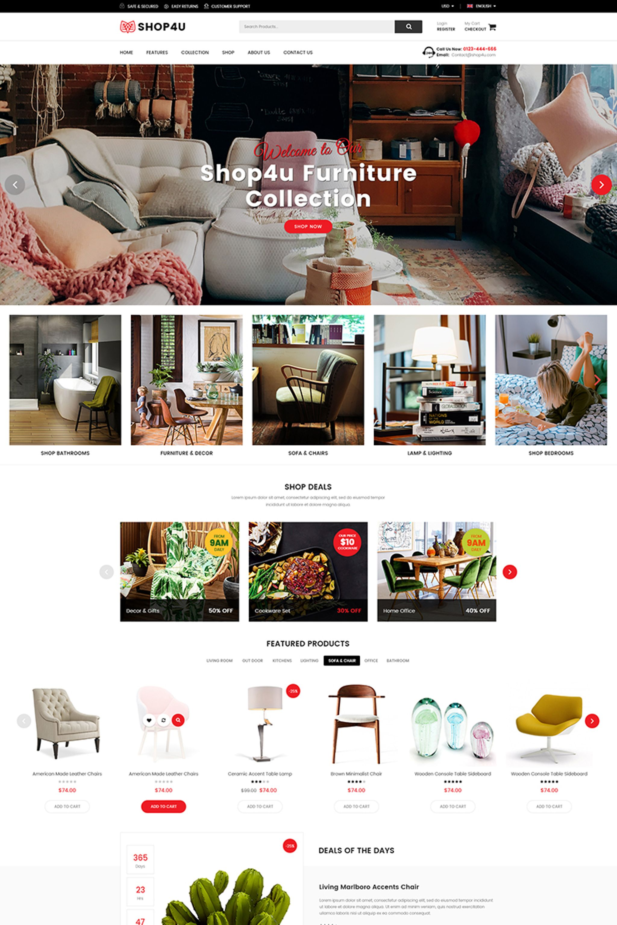 Shop4U - Furniture Responsive Magento Theme