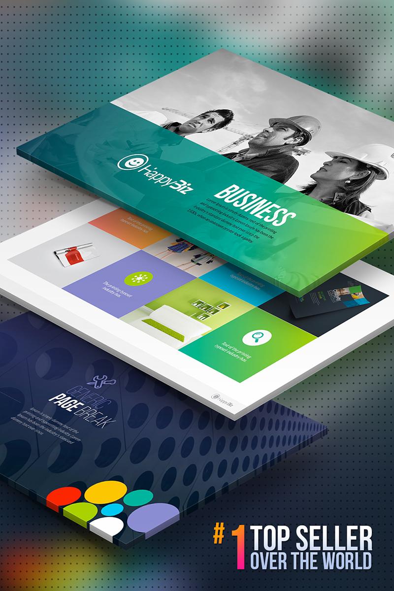 HappyBiz | Business Infographic Marketing PowerPoint Template