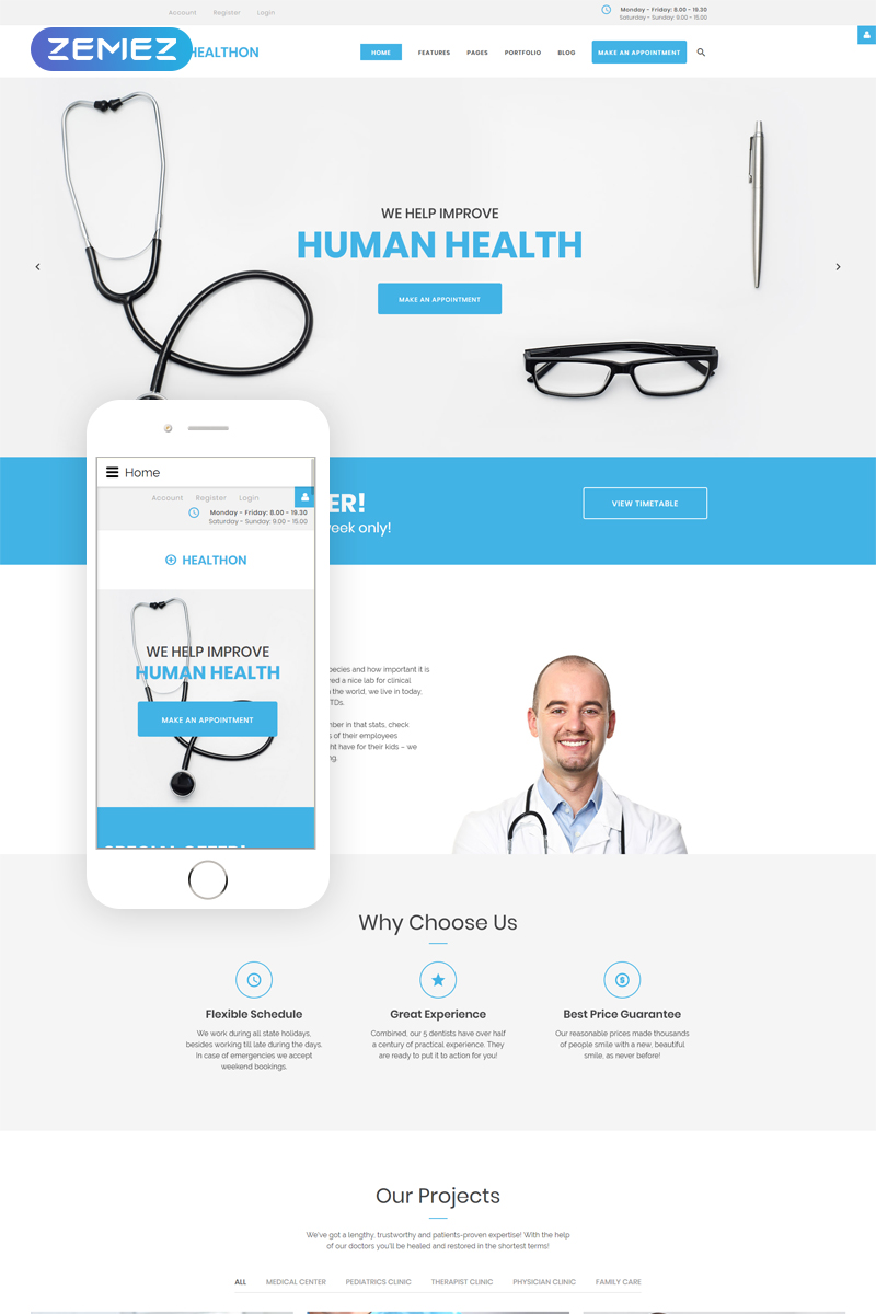 Healthon - Hospital Clean Joomla Template