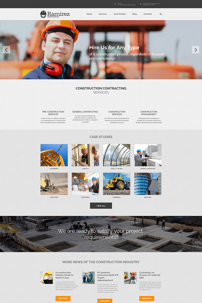 Ramirez - Architecture & Construction Company WordPress Theme