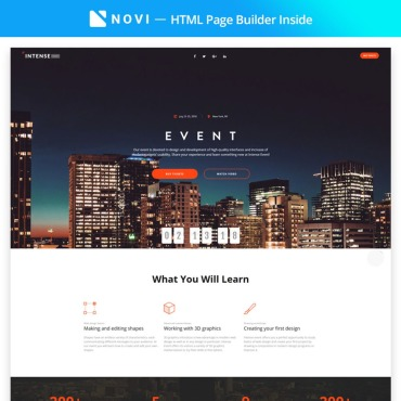 Template Divertisment Landing Page #67320