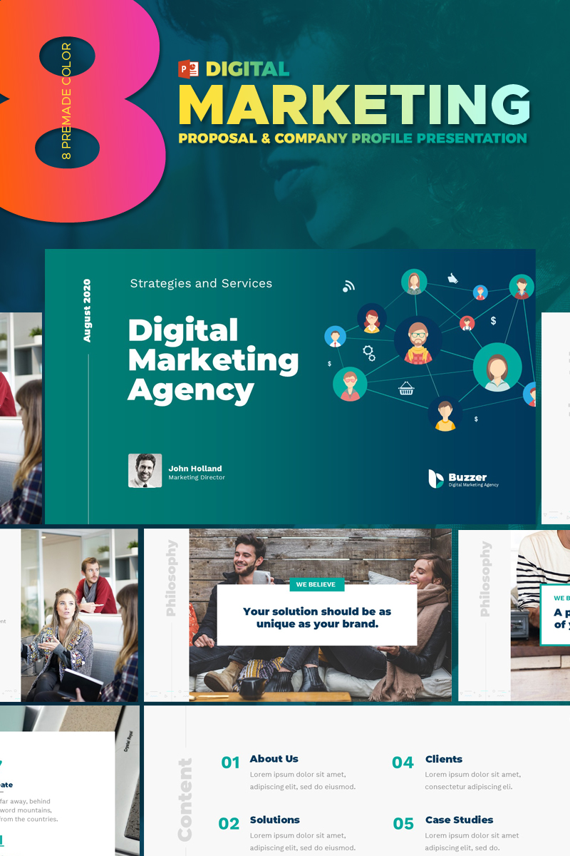 Digital Marketing Agency - PowerPoint Template