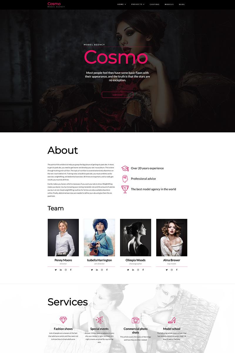 Cosmo - Model Agency WordPress Theme