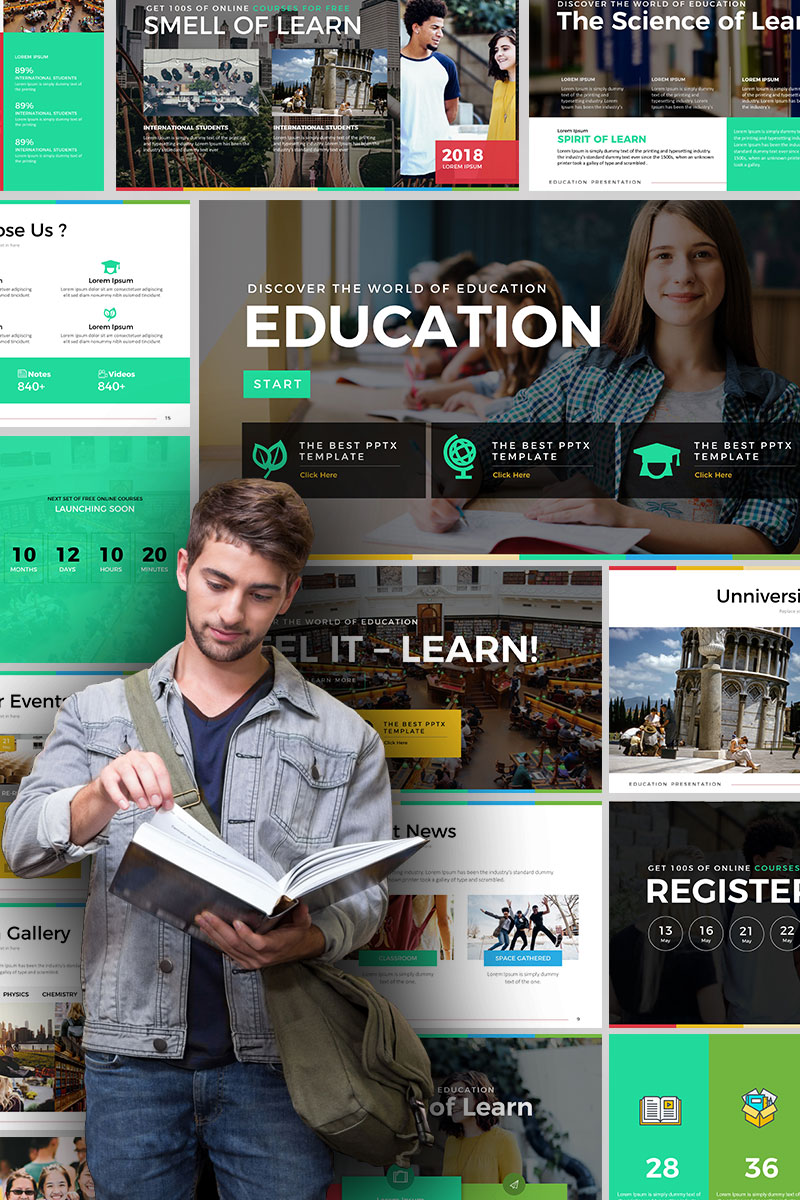 Education - Presentation PowerPoint Template
