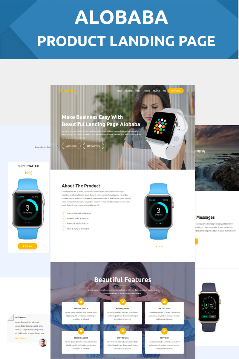 Alobaba - Product Landing Page Template