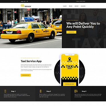 Template Transport Landing Page #67958