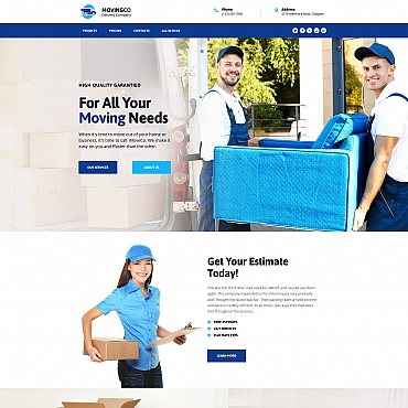 Template Transport Landing Page #67965