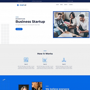 Template Afaceri Landing Page #67966