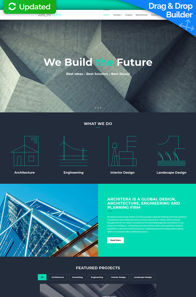 Architera - Architecture Firm Moto CMS 3 Template