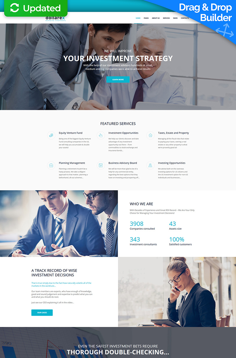 Dollarex - Investment Company Moto CMS 3 Template