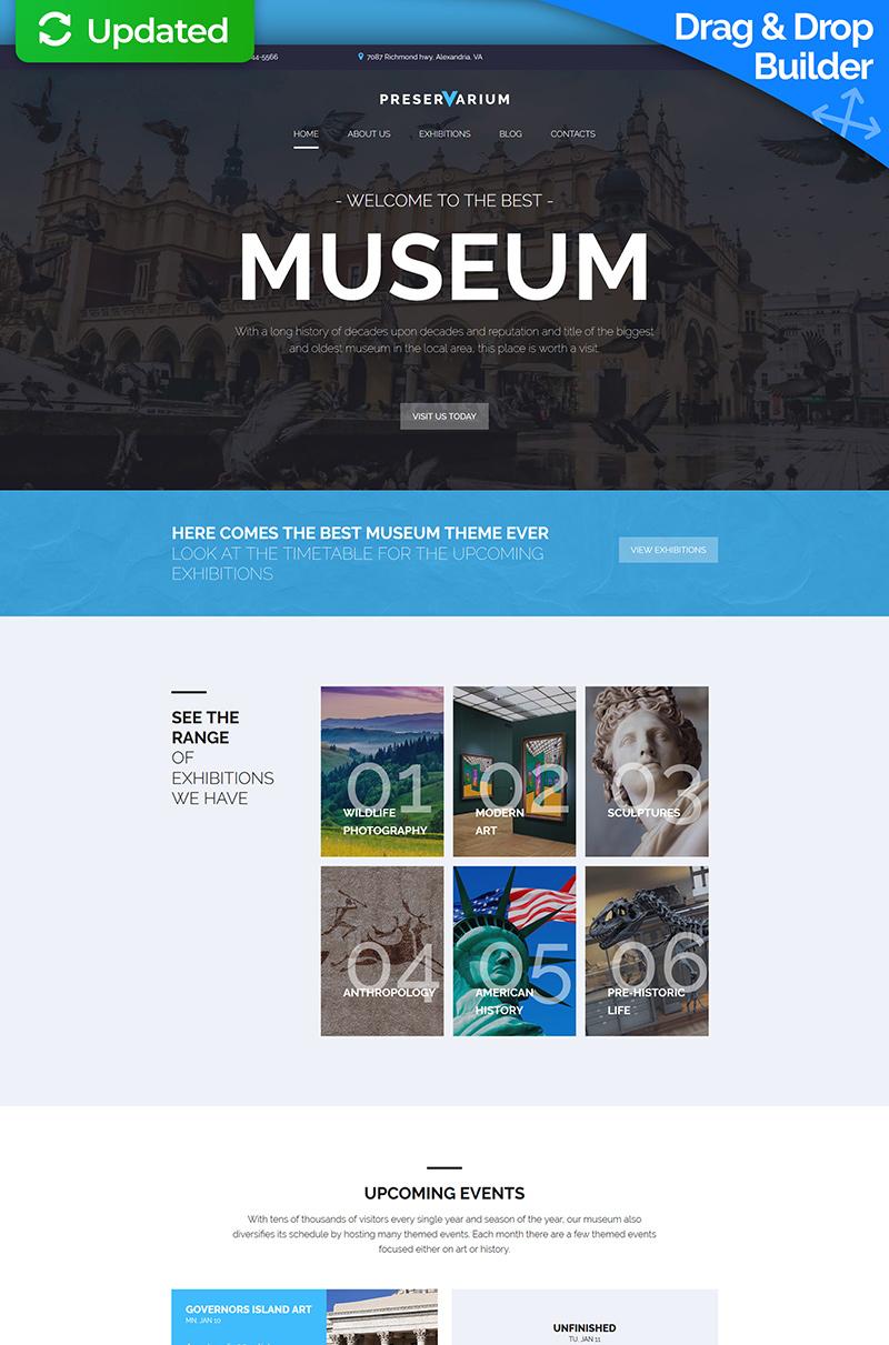 Preservarium - Museum Moto CMS 3 Template