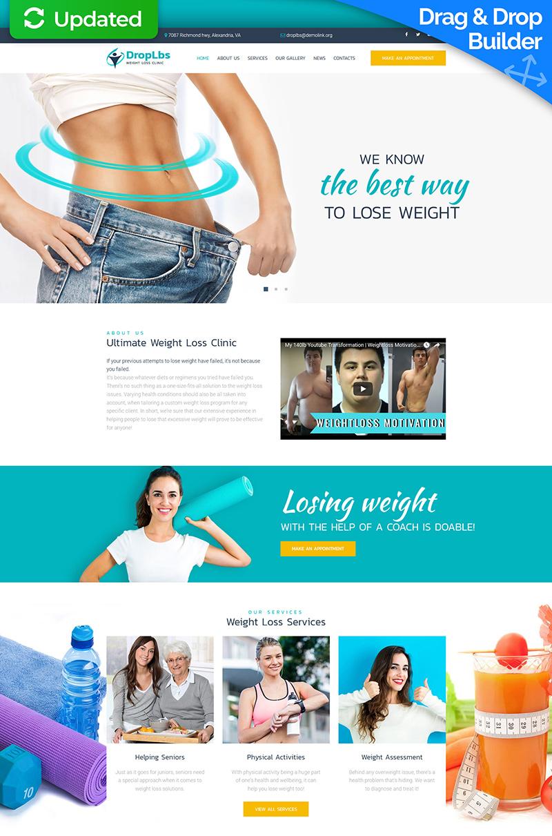 DropLbs - Weight Loss Clinic Moto CMS 3 Template