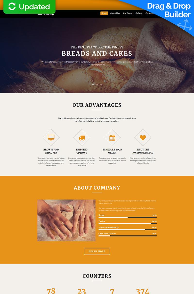 Bakery Company Moto CMS 3 Template