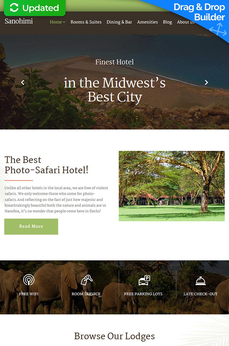 Sanohimi - Exotic Hotel Moto CMS 3 Template