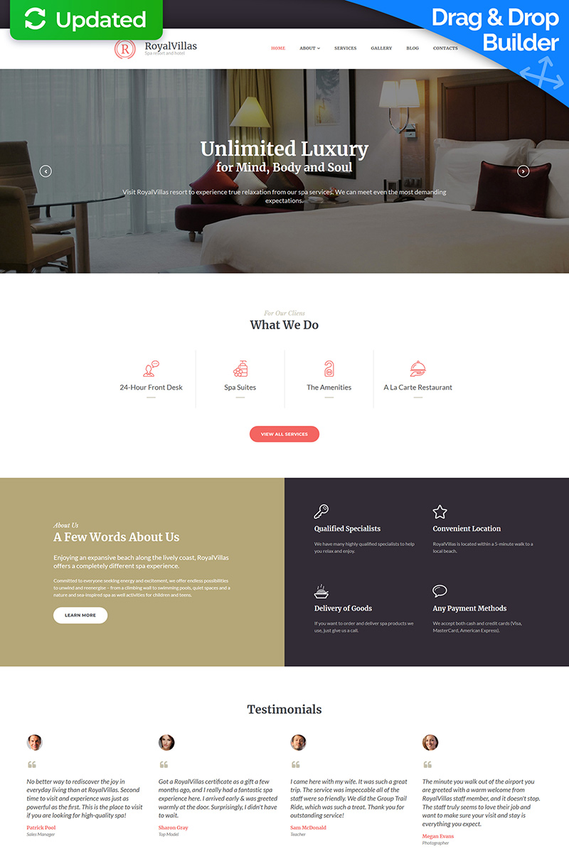 Royal Villas - Hotel Booking Moto CMS 3 Template