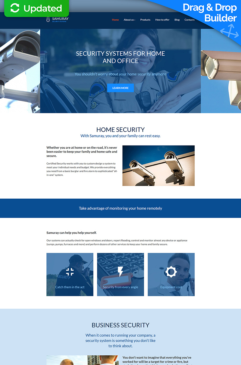 Samuray - Security System Moto CMS 3 Template