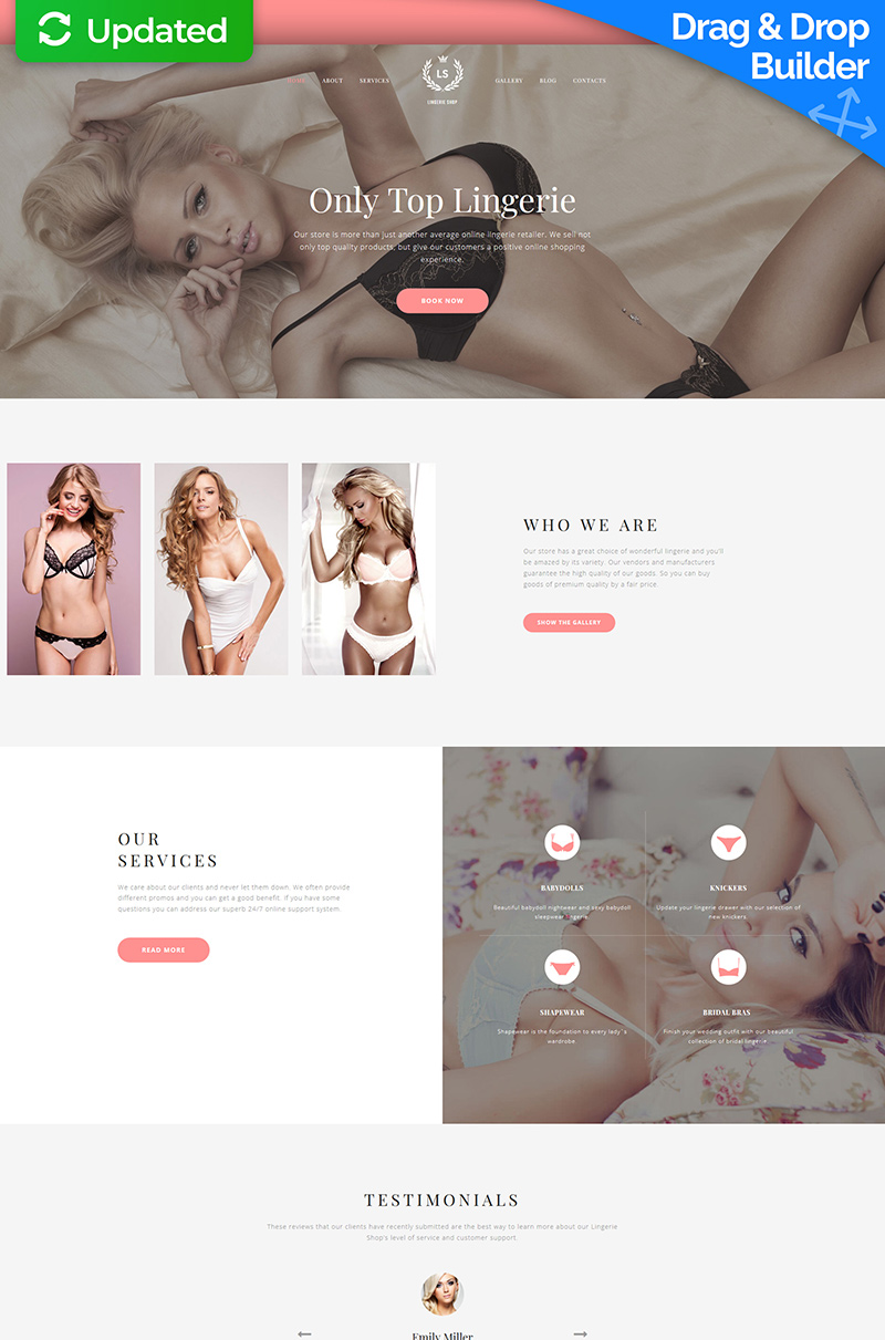 LS - Fashion Lingerie Moto CMS 3 Template