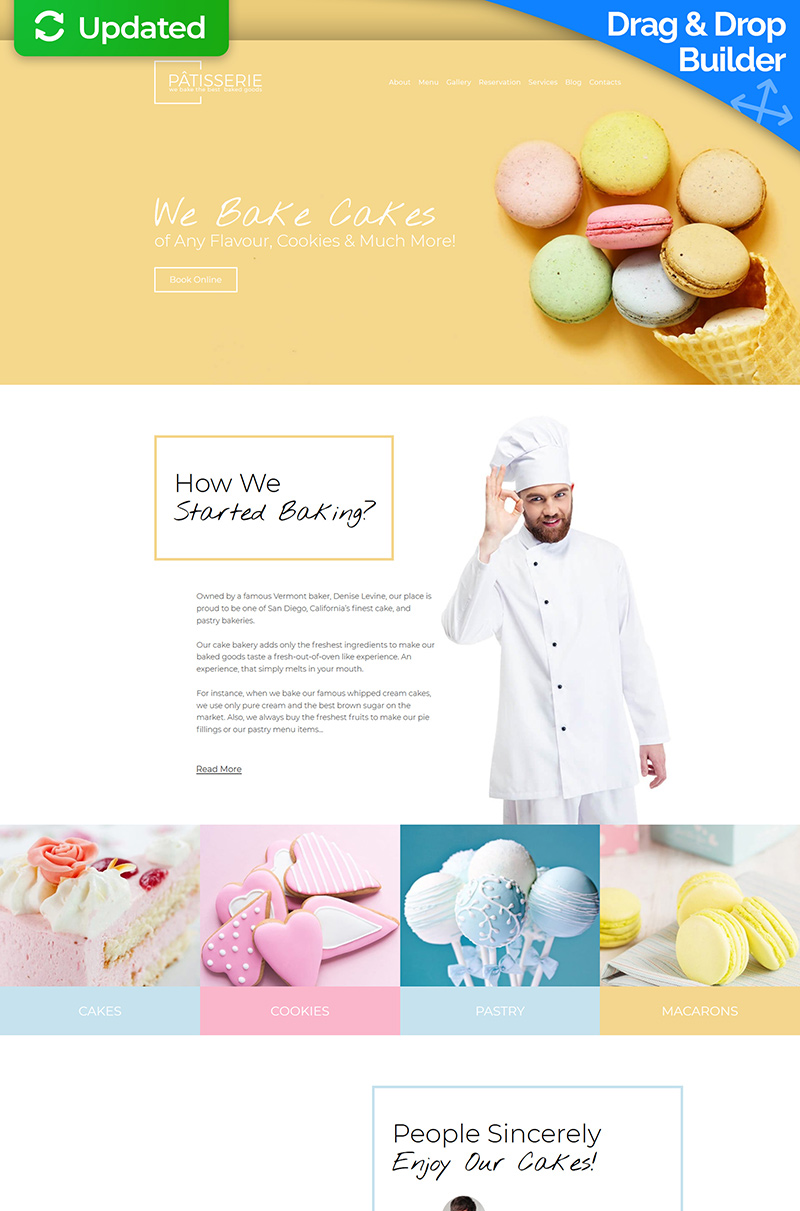 Patisserie - Cakery Moto CMS 3 Template