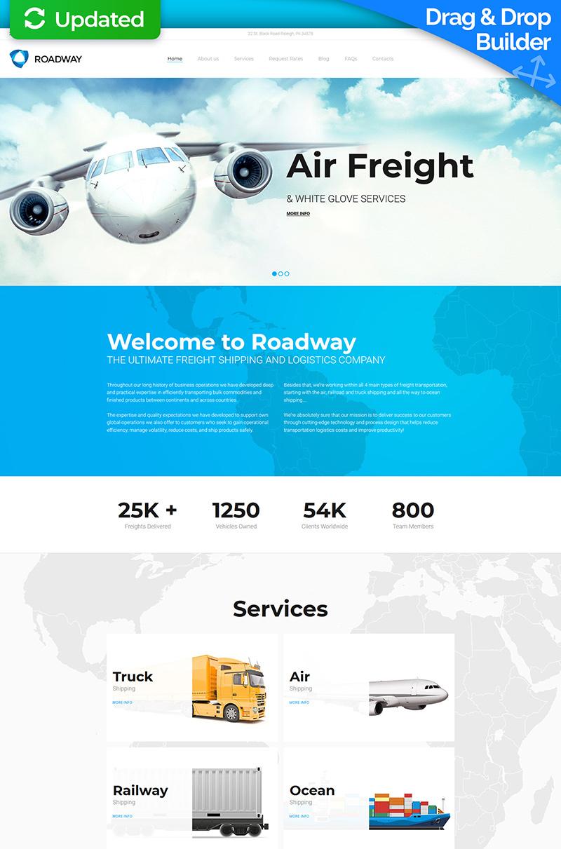 Logistics & Transportation Services Moto CMS 3 Template