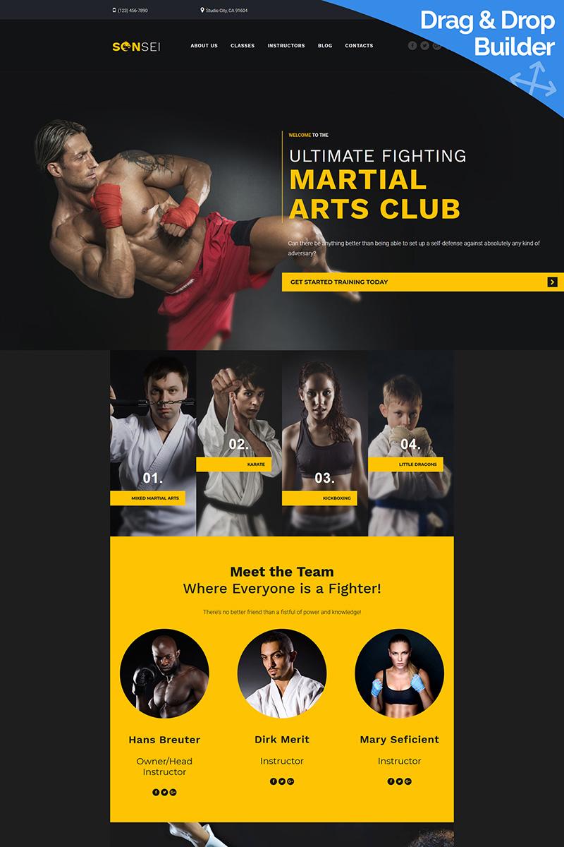 Sensei - Martial Arts Club Moto CMS 3 Template