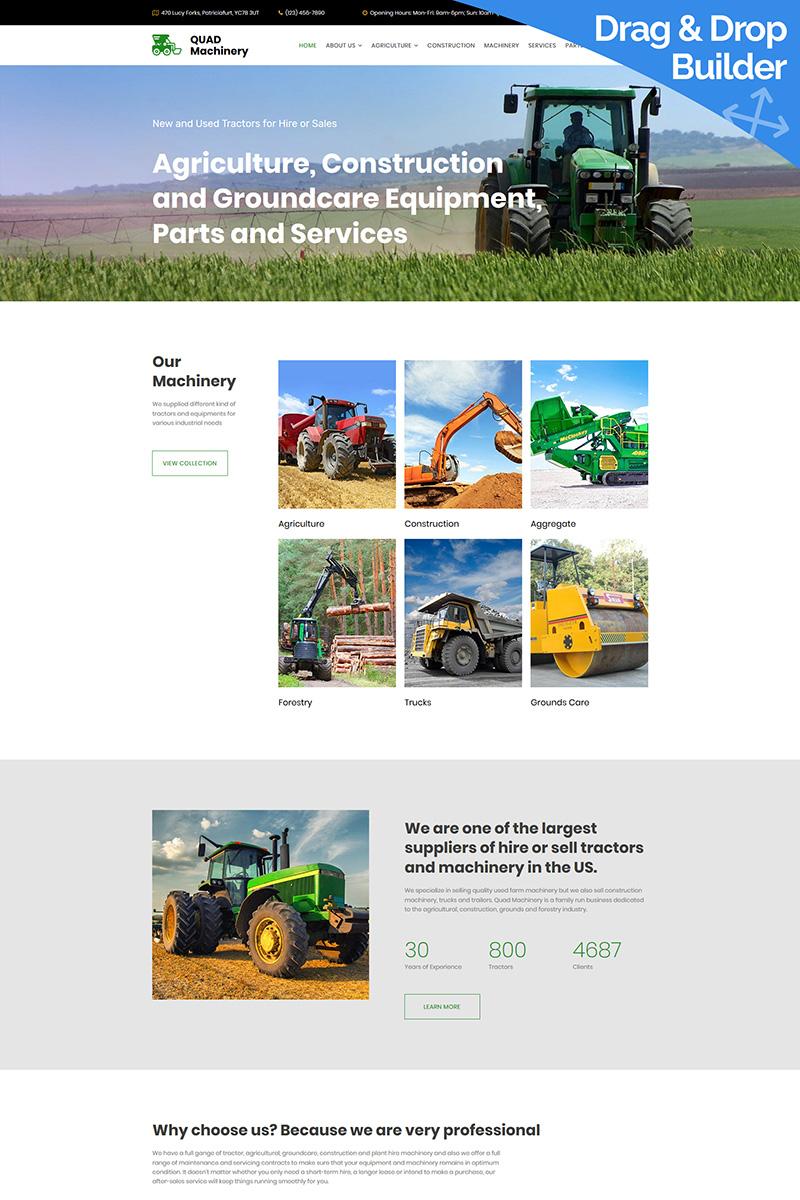 Tractor Machinery Premium Moto CMS 3 Template