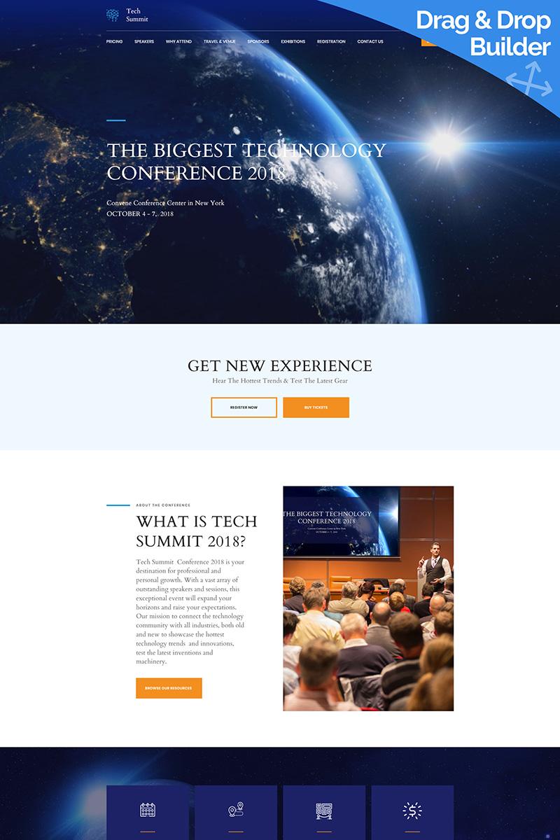 Conference Premium Moto CMS 3 Template