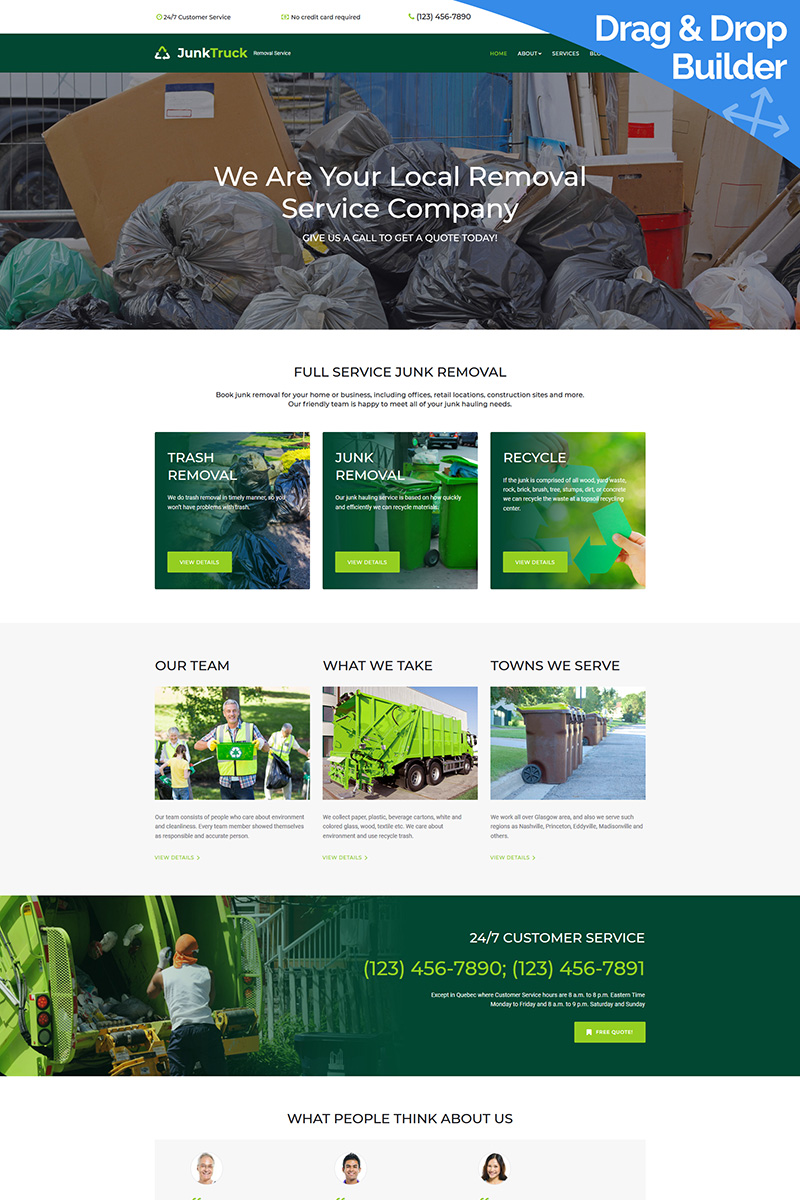 JunkTruck - Garbage Removal Service Company Moto CMS 3 Template