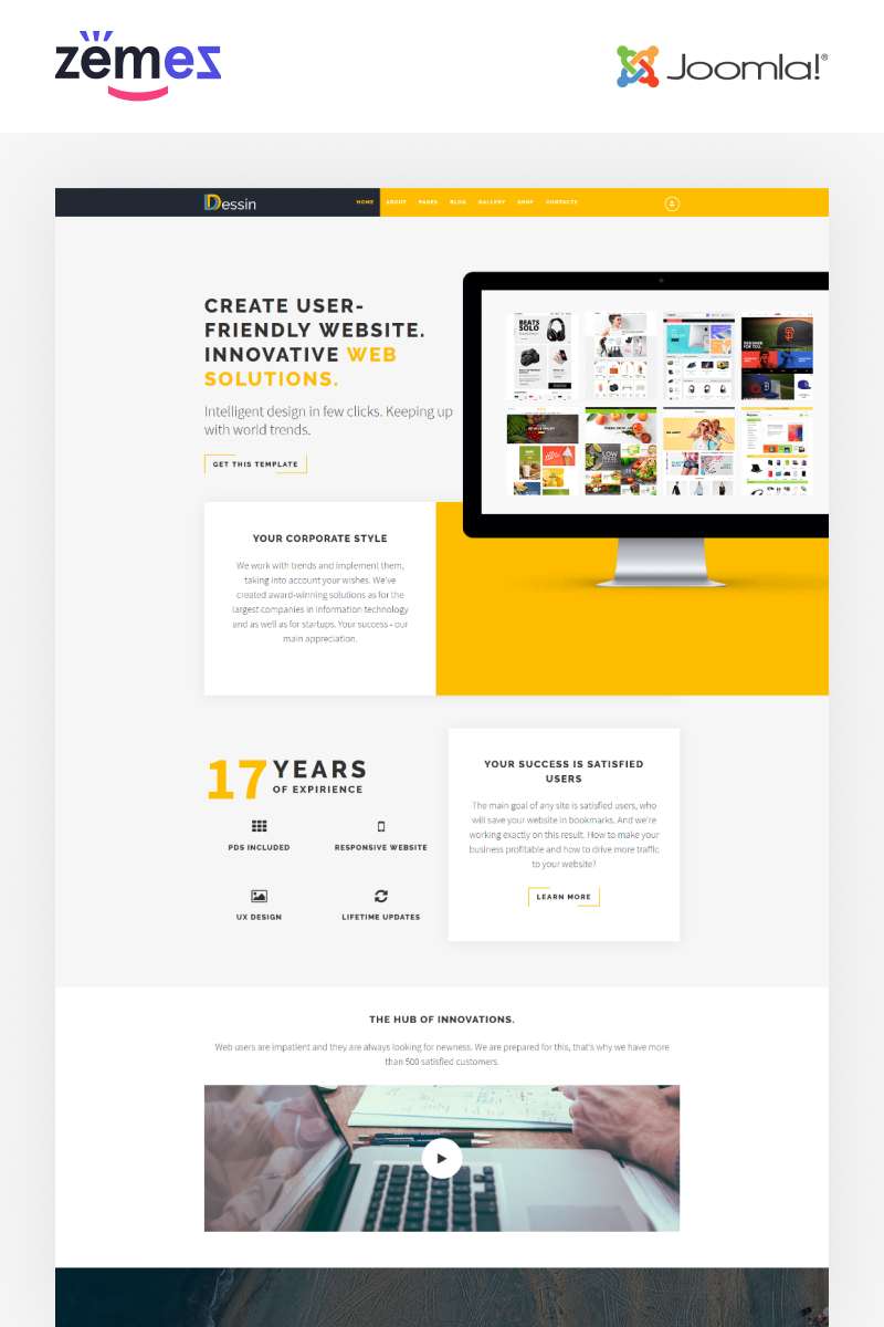 Dessin - Electronic Store Multipage Creative Joomla Template