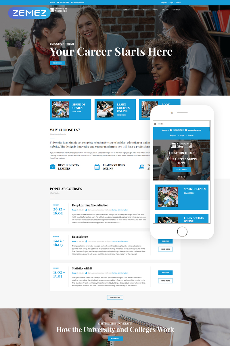 University of Stormhall - University Responsive Joomla Template