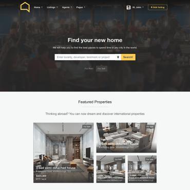 Template Imobiliare HTML, JS şi CSS #68445