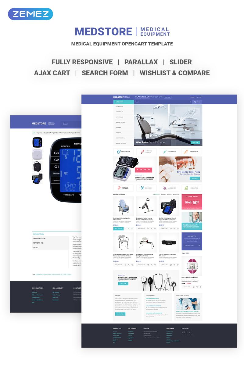 Medstore - Responsive Medical Equipment Online Store OpenCart Template