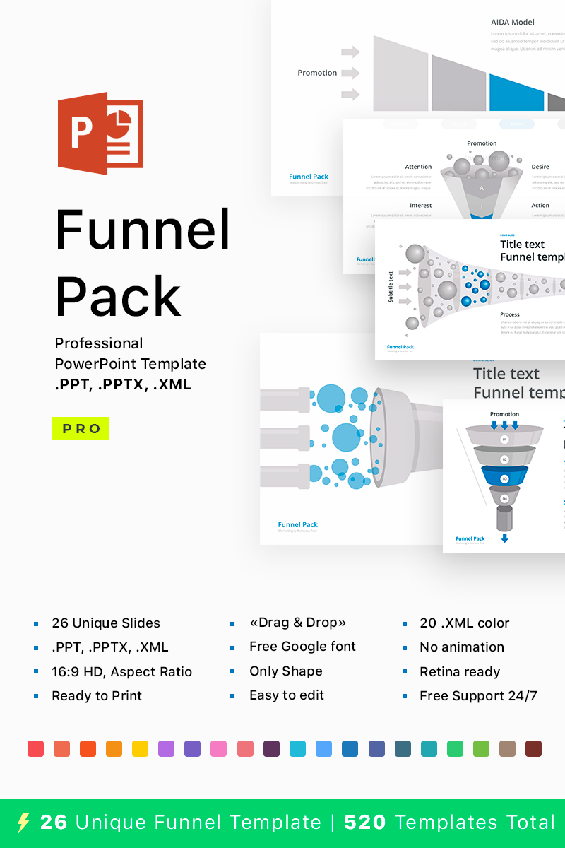 Funnel Pack - PowerPoint Template