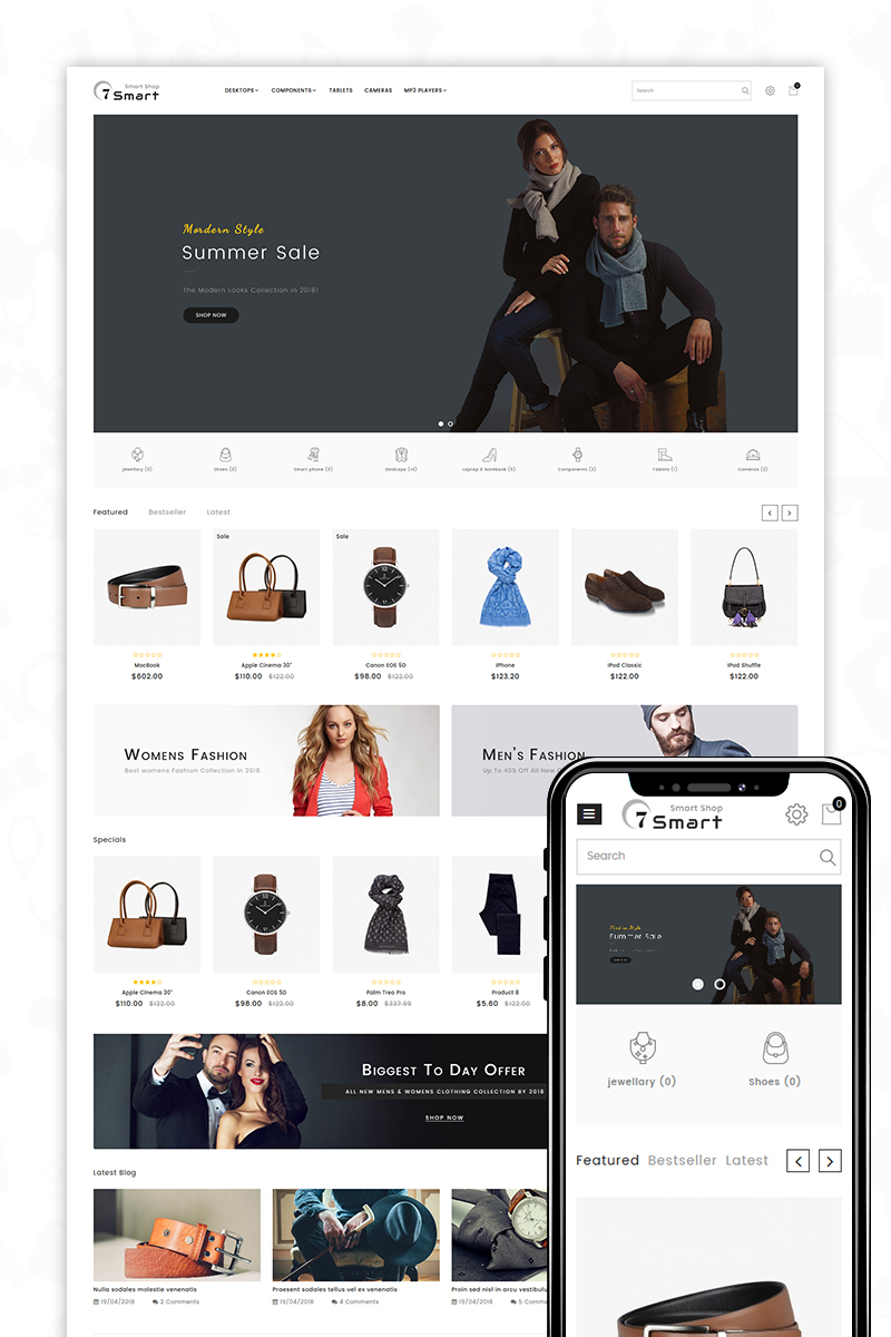 7Smart-The Smart Shop OpenCart Template