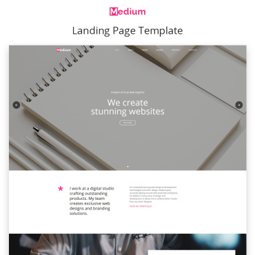 Template Software Landing Page #68976