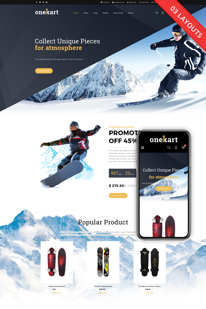 OneKart - Sports Multipurpose WooCommerce Theme