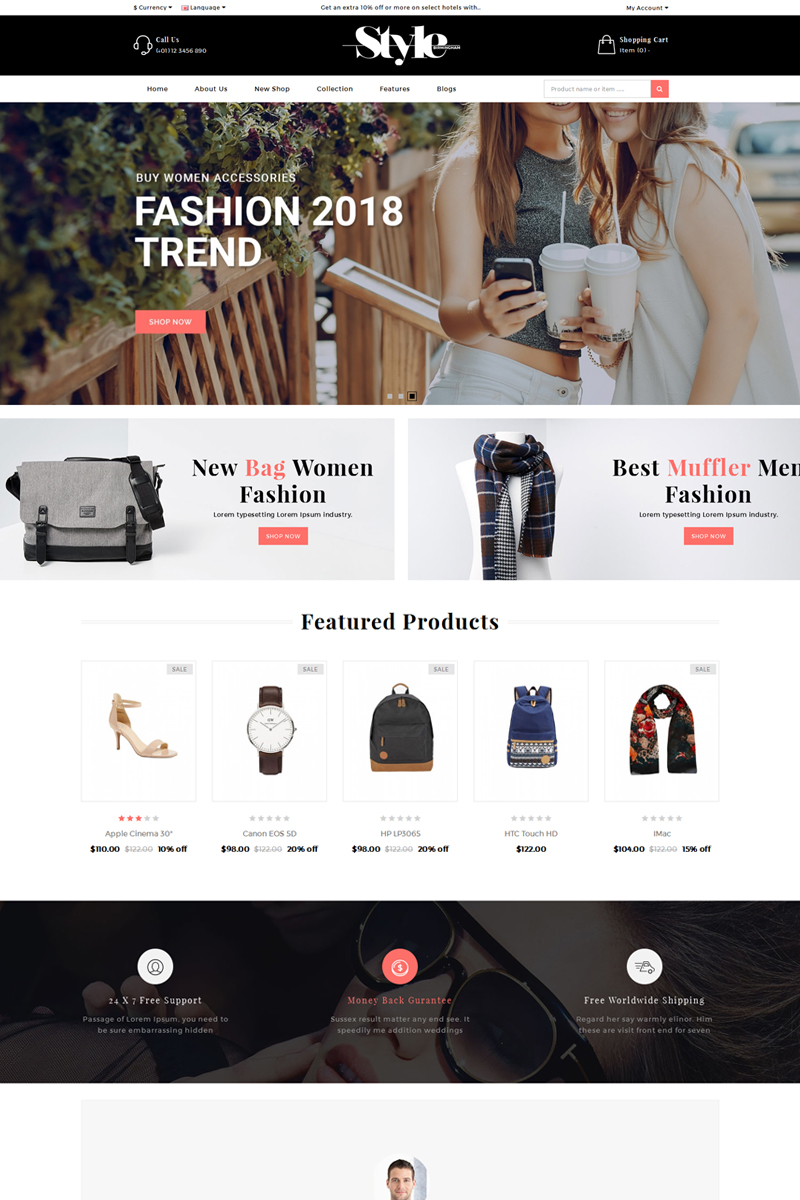 StyleFashion OpenCart Template