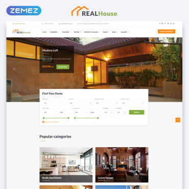 Template Imobiliare HTML, JS şi CSS #69498