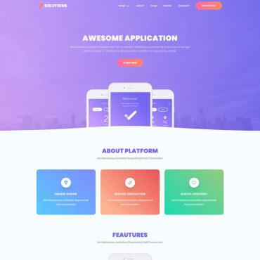 Template Software Landing Page #69535