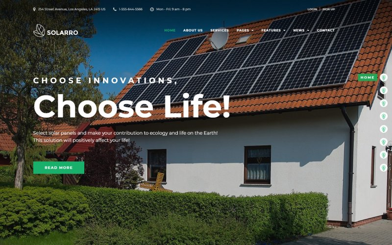 Solarro - Solar Energy Company Elementor WordPress Theme