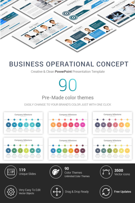 Business Operational Concept, PowerPoint Template